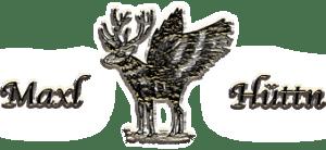 Alm-Hüttenverleih, Maxl-Hüttn, geflügelter Hirsch